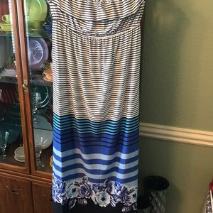 Strapless maxi dress by Heart Soul